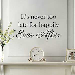 'Happily Ever After' Wall Quote - baby's room