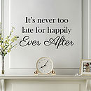 'Happily Ever After' Wall Quote