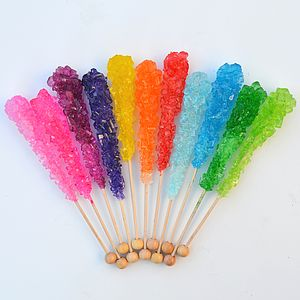 Flavoured Sugar Swizzle Sticks 10 Pack - sweets