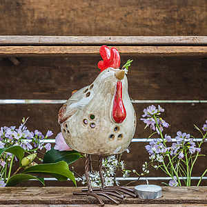 Ceramic Chicken Tea Light - tableware