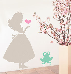 Children's Princess And The Frog Wall Sticker - baby's room