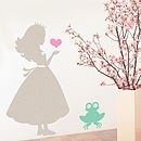 Children's Princess And The Frog Wall Sticker