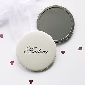 Personalised Name Compact Mirror - practical & personalised