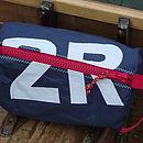 Personalised Sailcloth Wash Bag