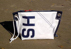 Personalised Sailcloth Wash Bag With Rope Handle - wash & toiletry bags