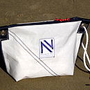 Personalised Sailcloth Wash Bag With Rope Handle