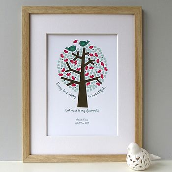'Our Love Story' Personalised Print - Green