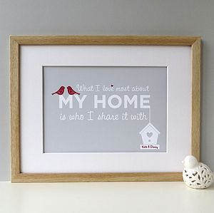 'What I Love Most About My Home' Family Print
