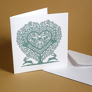 Tree Heart Greetings Card - anniversary cards