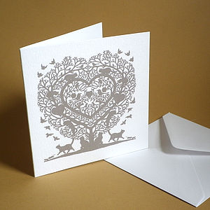 Cat Lovers Heart Card