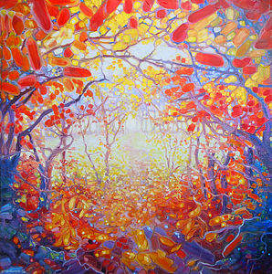 An Autumn Path To Somewhere Better - paintings & canvases