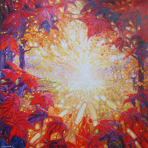 A Radiant Autumn Dawn - paintings & canvases