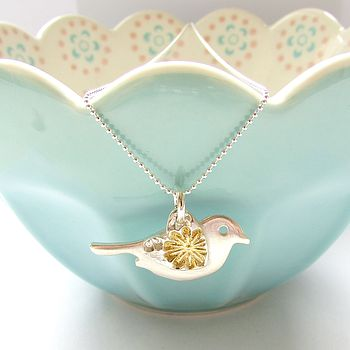 Floral Love Bird Necklace
