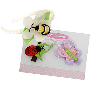 Little Bugs Gift Set With Headband - hair clips & hair ties