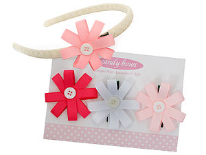 Spring Posies Gift Set With Headband - hair accessories