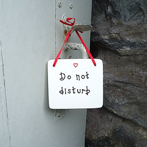 Personalised Do Not Disturb Sign