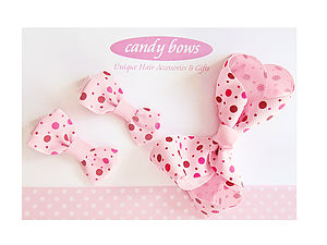 Polka Dotty Bows Gift Set - for children