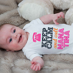 Keep Calm And Call Your Name Here - babygrows