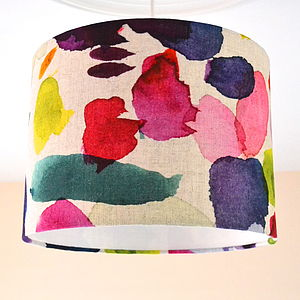 Handmade Abstract Lampshade - living room