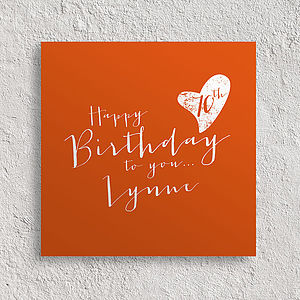 Personalised Birthday Age Card