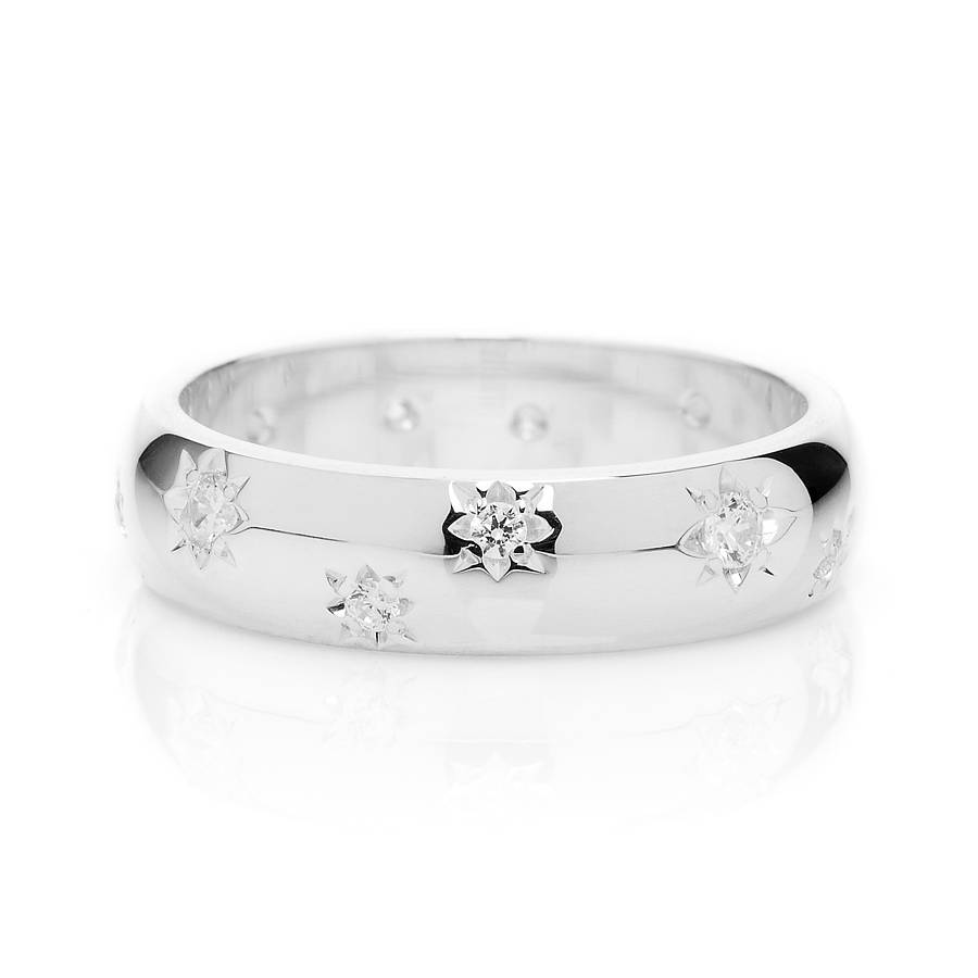 image light ring court shape rings wedding palladium star