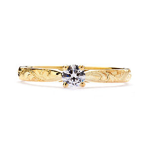 Athena Ethical Fairtrade Engraved Engagement Ring - wedding jewellery