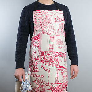 Sweet Tooth Apron Raspberry