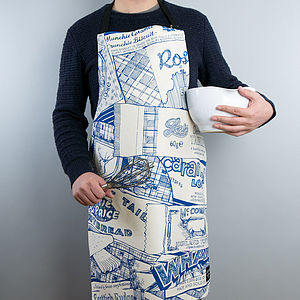 Sweet Tooth Apron Royal Blue