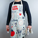 'Fish And Chips' Unisex Kitchen Apron