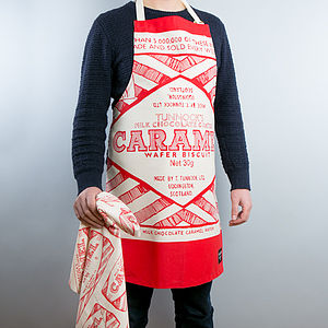 Tunnock's Caramel Wafer Wrapper Apron - aspiring chef