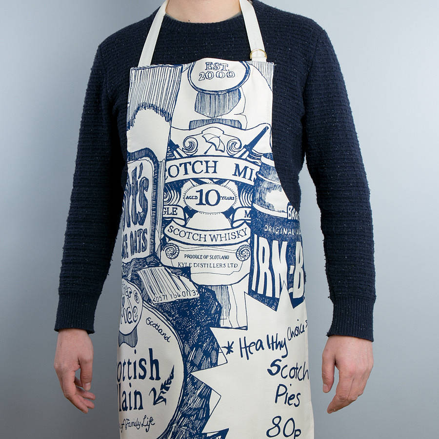 857db26e70ca1 scottish breakfast  apron by gillian kyle gift   home ...