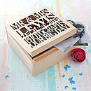 Thumb personalised wooden wedding keepsake box