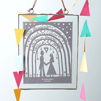 Papercut option in delicate glass/nickel frame