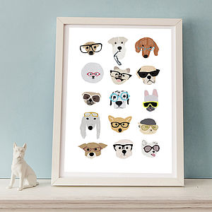 Dogs With Glasses Print - prints under £25
