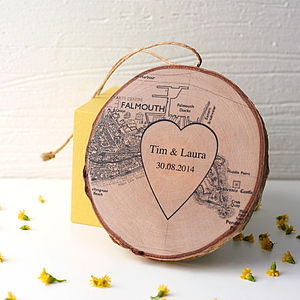 Personalised Names And Map Keepsake - wedding gifts