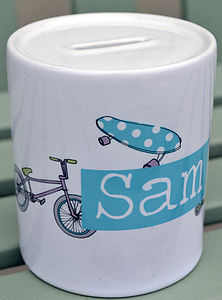 Personalised Money Box For Boys