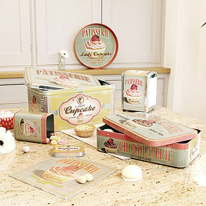 French Retro Kitchen Tin Storage