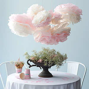 Hand Cut Tissue Paper Peony Flower - room decorations