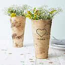 Personalised Birch Bark Vase