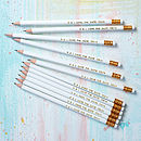 Save The Date White Pencils