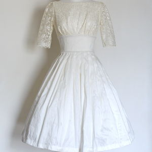 Raw Silk Dupion And Lace Audrey Wedding Dress