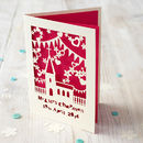 Personalised Papercut Church Wedding Card