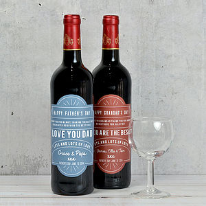Personalised Father's Day Bottle Label - food & drink sale