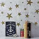 Gold Or Silver Star Wall Sticker Set