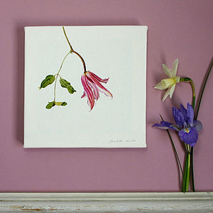 Canvas Print ' Clematis ' - paintings & canvases