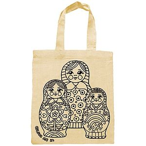 Colour In Party Bag With Russian Dolls