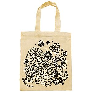 Colour In Flowers Party Bag