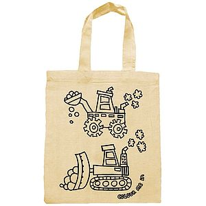 Colour In Diggers Party Bag - children's accessories