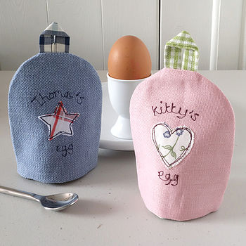 Personalised Embroidered Fabric Egg Cosy