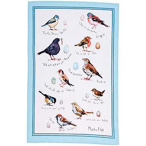 Maleleine Floyd Birdsong Linen Tea Towel - kitchen accessories